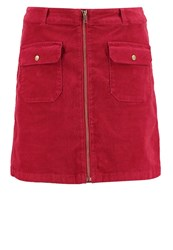 S.Oliver Denim Mini Skirt Red