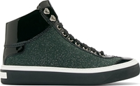 Jimmy Choo Green Glitter High Top Sneakers