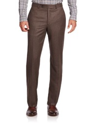 Saks Fifth Avenue Wool Dress Pants Brown