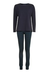 Tommy Hilfiger Iconic Top And Joggers Set Navy Blue
