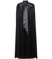 Dolce And Gabbana Velvet Cape Black