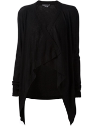 Vince Draped Open Front Cardigan Black