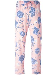 P.A.R.O.S.H. Floral Print Trousers Pink And Purple