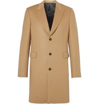 Paul Smith Slim Fit Wool And Cashmere Blend Coat Camel