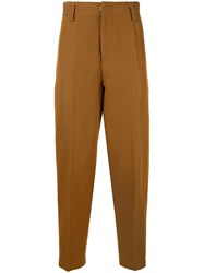 Tomorrowland Straight Leg Trousers Brown