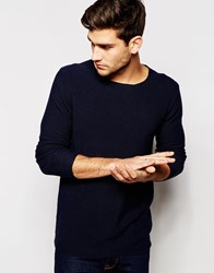 Junk De Luxe Fully Textured Jumper Navy