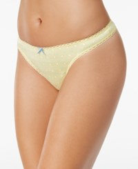 Charter Club Pretty Cotton Thong Only At Macy's Confetti