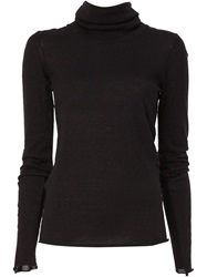 Lost And Found Cowl Neck Sweater Black