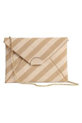 Handm H M Canvas Clutch Bag White