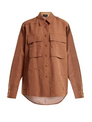 Joseph Jim Patch Pocket Blouse Tan