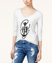 Tommy Hilfiger Tommyxgigi Anchor Graphic T Shirt Snow White