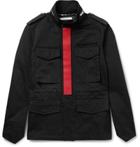 Givenchy Cotton Blend Field Jacket Black
