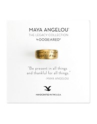 Dogeared Be Present 14K Goldplated Ring
