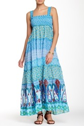 Chaudry Smocked Maxi Dress Blue