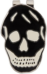 Alexander Mcqueen Black And White Skull Money Clip