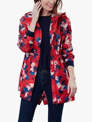 Joules Golightly Pack Away Waterproof Floral Print Parka Coat