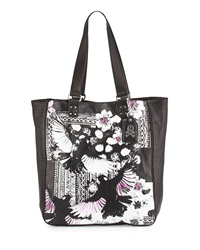 Ash Indy Printed Leather Tote Bag Black Skylark