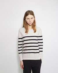 A.P.C. Pull Mariniere Andy Blanc Casse