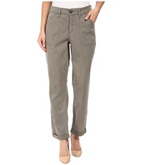Nydj Reese Relaxed Jeans In Colored Chino Tabbouleh Women's Jeans Pewter