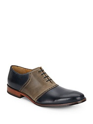 Cole Haan Williams Leather Saddle Shoes Black