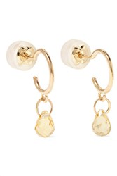 Melissa Joy Manning 14 Karat Gold Citrine Earrings One Size