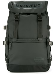 Makavelic Ludus Box Logo Covered Backpack Black