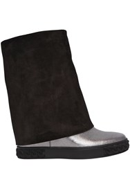 Casadei 100Mm Metallic Leather And Suede Boots