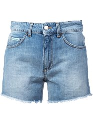 Alexachung Alexa Chung High Rise Shorts Blue