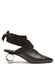 J.W.Anderson Cylinder Heel Leather Mules Black