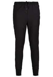 Cream Zarra Trousers Pitch Black