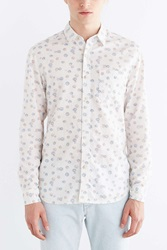 Koto Exploding Dots Linen Button Down Shirt White