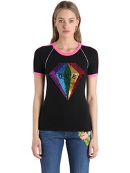 Gucci Cotton Jersey T Shirt W Sequins