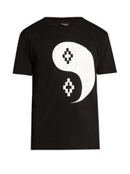 Marcelo Burlon Pissis Tao Print Cotton T Shirt Black White