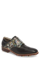 Robert Graham Legend Wingtip Oxford With Removable Cleats Black Leather