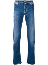 Jacob Cohen Low Rise Regular Trousers Blue