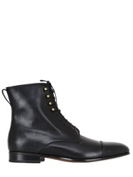 Salvatore Ferragamo Gauguin 2 Leather Lace Up Boots