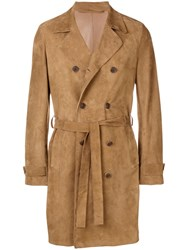 Salvatore Santoro Double Breasted Coat Brown