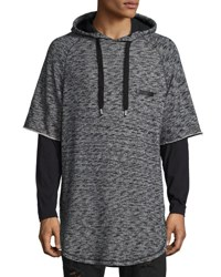 Prps Mars Space Dye Short Sleeve Hoodie Gray Black