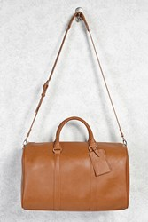Forever 21 Faux Leather Duffle Bag Tan