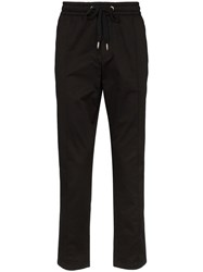 Dolce And Gabbana Logo Plaque Sweatpants Black