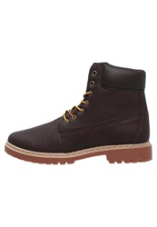 Your Turn Laceup Boots Dark Brown