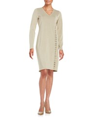 Calvin Klein Shimmer Knit Lace Up Dress