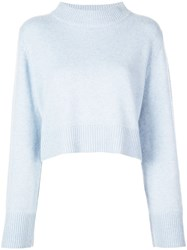 Co Cropped Jumper Blue