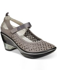 Jambu Women's Calypso Mary Jane Wedges Women's Shoes Dark Grey