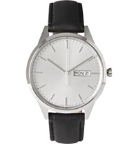 Uniform Wares C40 Stainless Steel And Leather Watch White