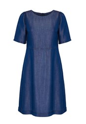 Hallhuber A Line Denim Dress Blue