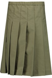 Tory Burch Pleated Shell Skirt Army Green