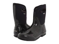 Bogs Classic Mid Handle Black Shiny Women's Waterproof Boots