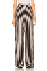 Etro High Waisted Stripe Trousers In Black Neutrals Stripes Black Neutrals Stripes