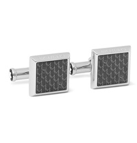 Montblanc Enamelled Stainless Steel Cufflinks Gray